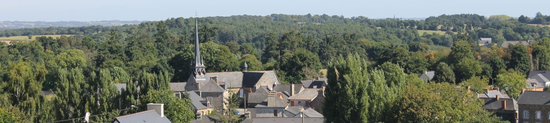 vue du bourg de Guitté