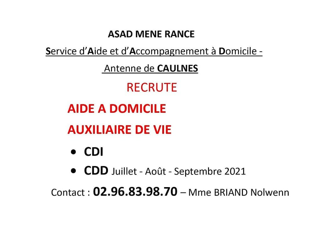affiche recrutement SAAD